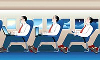 Business in the Air 2004 Linda Braucht (20th C. American) Computer graphics