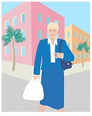 The Blond Business Shopper Linda Braucht (20th C. American) Computer Graphics