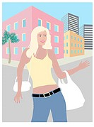 The Blond Shopper Linda Braucht (20th C. American) Computer Graphics