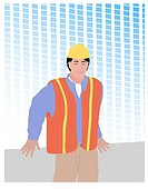 Construction Guy Linda Braucht (20th C. American) Computer Graphics
