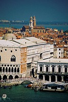 High angle view of St. Mark´s Square, Venice, Italy