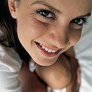 Extreme close-up of young woman´s face