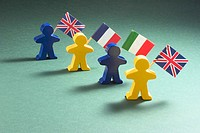 Figures with flags