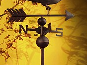 Close-up of a metal weather vane