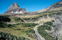 Logan Pass. Glacier National Park. Montana Northern. USA
