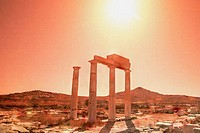 Columns of the Poseidonists on Delos, Greece
