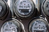 Electric meters. Mexico D. F.