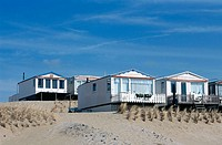 Beach cabins. Ijmuiden, Holland