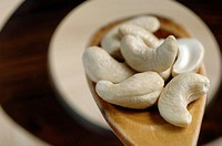 Cashew nuts, close up