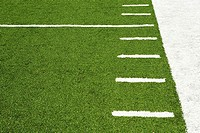 Hash marks on american football field