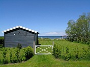 Summer cottage with a view to Struer bay, Limfjorden, Jutland Denmark