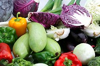 fresh vegetable like spring onion, mushroom, corn, eggplant etc