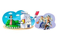 illustration images represent business, economy and related actvities