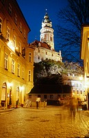 Castle tower. Cesky Krumlov. Czech Republic