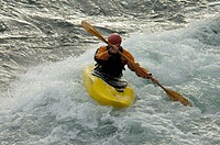 Kayaking, Yukon River, Yukon Territory, sports, river, water sports, action, North America, America, Canada