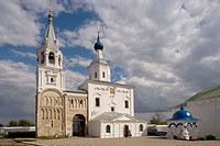 Monastery buildings: Palace of Prince Andrei Bogoliu, the Bogoliubovo Castle, Staircase Tower, 12th and17th centuries, Cathedral of the Nativity, Bogo...