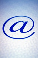 Close-up of an 'at' symbol