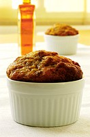 Close-up of a muffin in a bowl