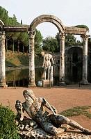 The Canopus in Hadrian´s Villa, Tivoli. Lazio, Italy