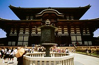Low angle view of a Buddhist temple, Todaji Temple, Nara, Japan