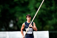 Portrait of a Male Pole Vaulter