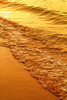 Thailand, Pattaya Beach, Waves on shore [golden]