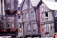 France, Brittany, Dinan, traditional homes