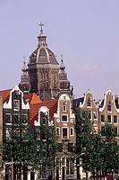 The Netherlands, Amsterdam, traditional architecture