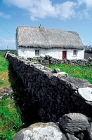 Ireland, Aran Islands, Inishmore, traditional house
