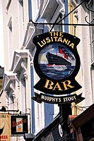 Ireland, Cork, village of Cobh, pub sign