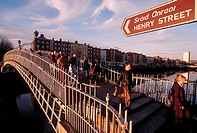 Ireland, Dublin, Half penny bridge