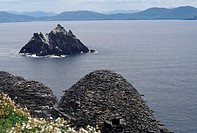 Ireland, Skellig, hut of the monastery