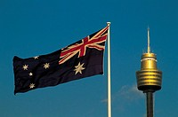 Australia, flags in Sydney