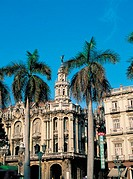 Havana, Opera house and palm trees