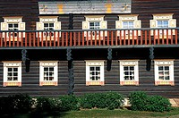 Finland, Carelia, Nurmes, Bomba hotel, traditionnal house