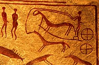 Sweden, Scania, Kivik, Kungagraven, cave art