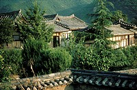 South Korea, Hahoe village, patrician houses