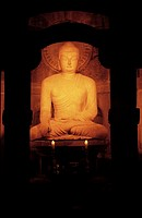 South Korea, Kyongjiu, Sokkuram caves, 8th century statue of Buddha