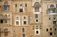 Yemen, Hababa, house built in adobe (thumbnail)