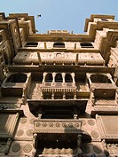 Detail of the Patwa Haveli in Jaisalmer. Rajasthan. India