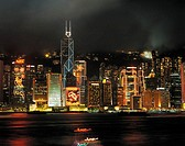 China, Hongkong by night