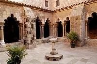 Sant Pau del Camp monastery. Cloister. Barcelona. Catalunya. Spain