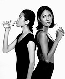 Two women drinking water (thumbnail)