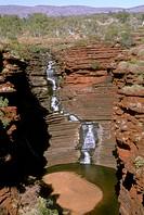 Joffre Falls from Joffre Lookout, Iron Formations, Karijini NP, W. Australia