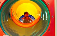 Girl inside a slide (thumbnail)