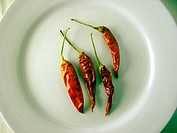 An Arrangement Of Dried Chilli Peppers