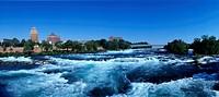 Niagara-River-at-Niagara-Falls,-NY