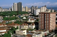 Belem-at-the-Mouth-of-the-Amazon,-view-from-Avenida-Gov-Malcher,-Para,-Brazil