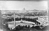 'Rome. View from the Pincio. In the distance St Peter´s with the Vatican Palace and Galleries´, 9 June 1841. Daguerreotype by Alexander John Ellis (18...
