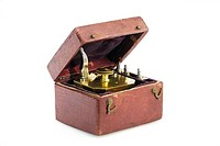 Brass scarificator with 12 lancets in case, used for scarifying the skin. This model could make several scars simultaneously.